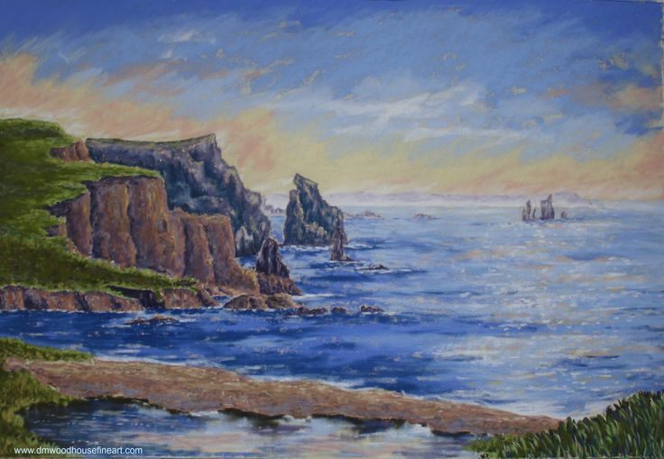 """Eshaness, Shetland"". Medium: Unison Soft Pastels, Materials: Fisher 400 Art Pastel Paper 360 gsm.  www.dmwoodhousefineart.com"