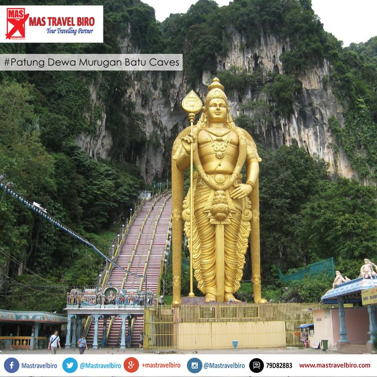 #infowisata   Jika anda berwisata ke malaysia , jangan lupa untuk berkunjung ke batu caves. Disana terdapat Patung Dewa Murugan yang besar dengan tinggi 42,7 meter. Dewa Murugan adalah dewa perang yang digambarkan oleh umat Hindu sebagai dewa berparas muda dengan bersenjatakan tombak. Putra Dewa Siwa dan Saudara dari Ganesha ini juga dikenal dengan nama kartikeya atau Sri Subramaniam.  Lokasi Patung yang terletak didepan 272 anak tangga ini menjadi tempat favorit foto bagi para wisatawan…