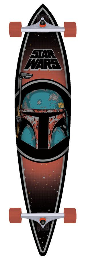 Santa Cruz Star Wars Boba Fett Pintail Cruzer Longboard Skateboard Complete