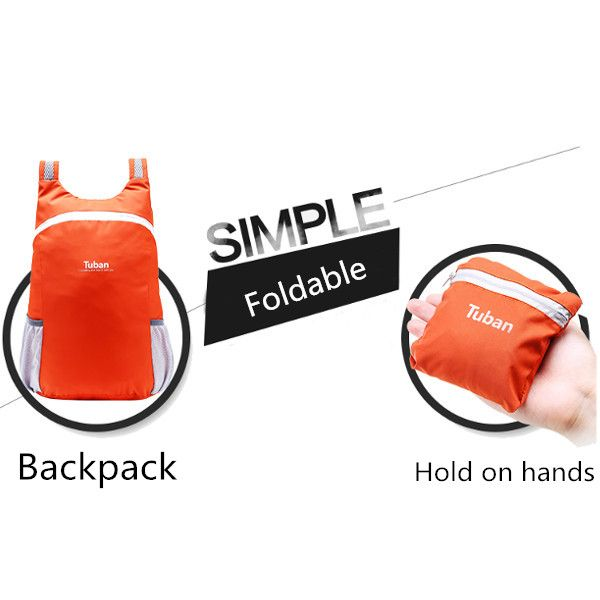 Light Weight Waterproof Foldable Backpack Outdooors Hiking Sports Bags Handbag Clutches