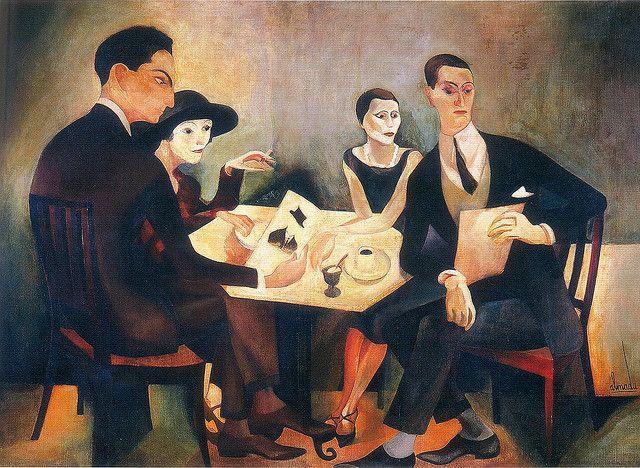 Almada Negreiros, Self-Portrait in a Group, 1925