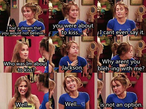 Hannah Montana. I don't care what ya'll think. I like this show.