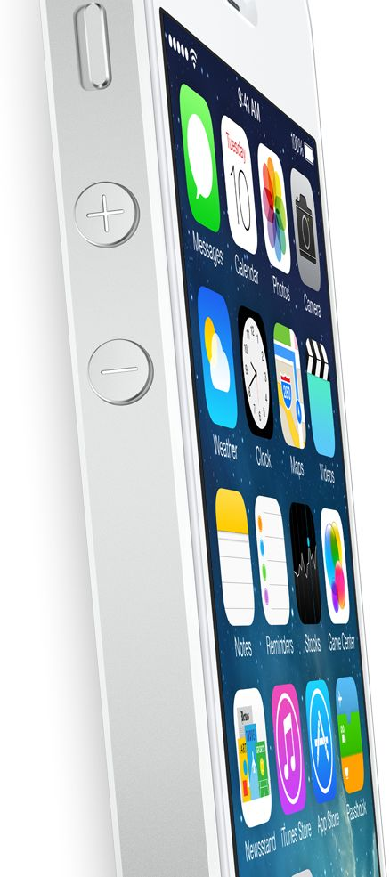 The new iPhone 5s has many unique features such as a finger print lock option.