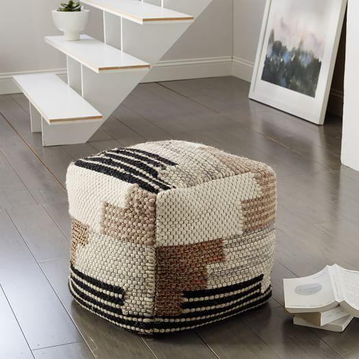 Floor Pillows West Elm : Colca Wool Pouf west elm Glen Oaks Pinterest Wool, Poufs and Multi