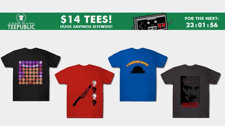 Sales on Everything Today only! $14 Movie T-Shirts. #sales #tshirts #discount #save #septembersales #movie tshirt #39 #style #fashion #psychotshirt #1984tshirt #aclockworkorangetshirt #cinema #movie #family #gifts #shopping #onlineshopping #teepublic