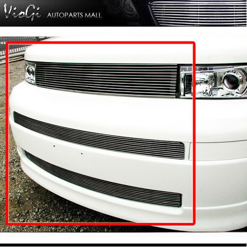 03-07 Toyota Scion XB Up + Low Combo 3 Pcs Billet Grill Grille 04 05 06 #HorizontalBillet
