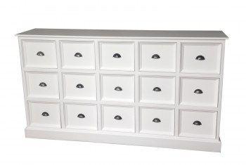 Stor vit skänk med lådor Mått:180x40x100 cm (rek.pris 7995 kr) / Skänkar / Byråer