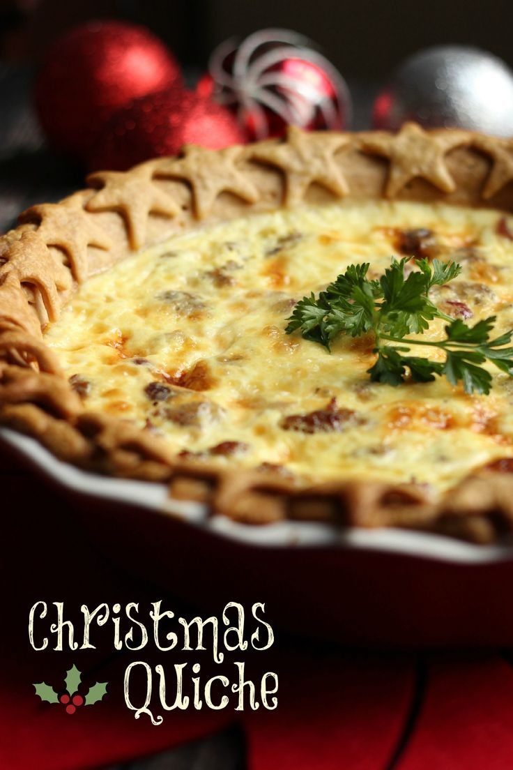 My family loves this Christmas Quiche! The savory sausage and sweet cranberries combine to make a delicious breakfast or appetizer.