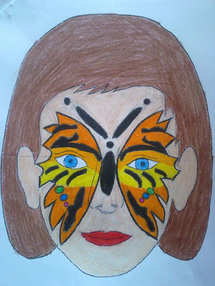 kelebek yüz boyama