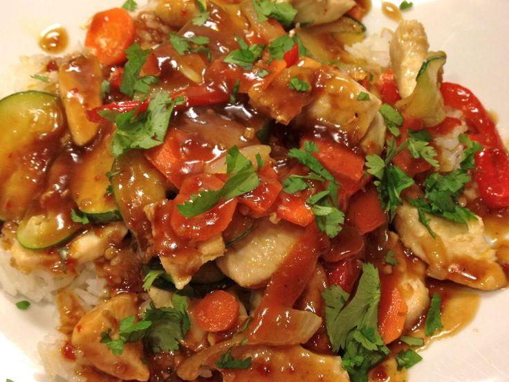 A Basic Stir Fry Recipe  Sweet and Sour Chicken and Orange Walnut Chicken
