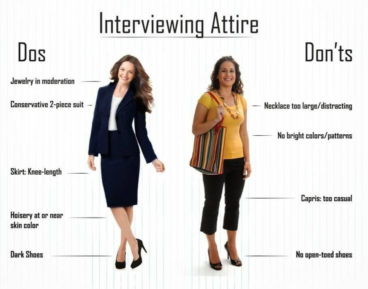 Dos and dont for womens interview attire interview