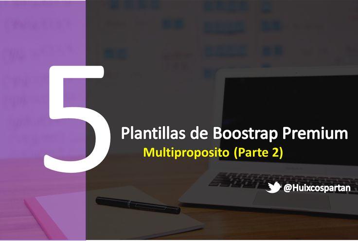 5 plantillas web premium de Bootstrap Multiproposito (Vol. II)