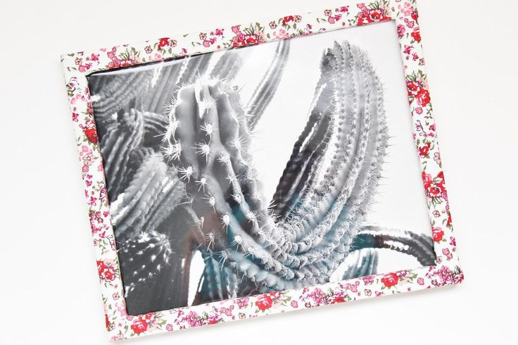 40 best diy photo frame images on pinterest diy photo for Diy fabric picture frame