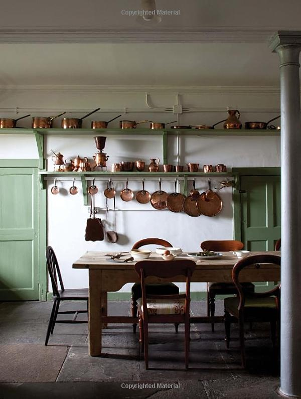 a country house kitchen.from the book The Scottish Country House: James Knox