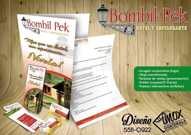 Diseño y definición de imagen corporativa para Hotel B'omb'il Pek, en Chisec Alta Verapaz