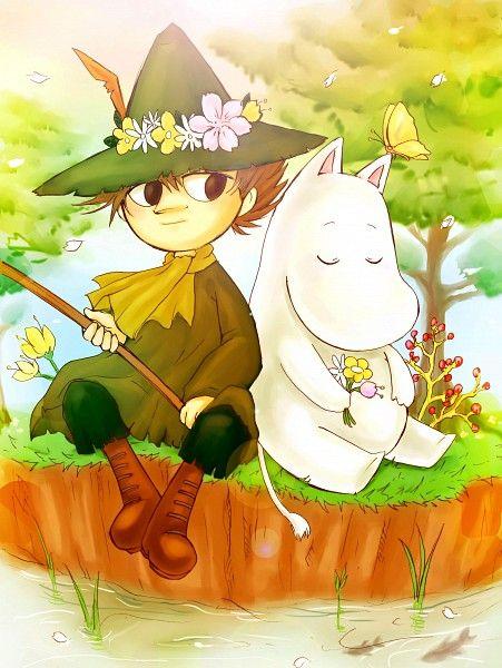 Snufkin and Moomintroll