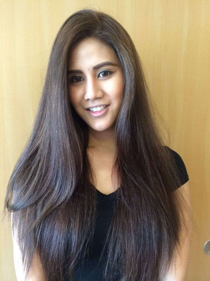 3 Color Hair: Medium Brown Hair Color With Partial Highlight.