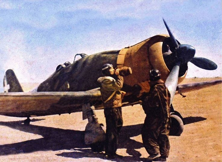 Italy WWII: Regia Aeronautica. Fiat G.50 352nd Squadron, Cyrenaica 1940-41 - pin by Paolo Marzioli
