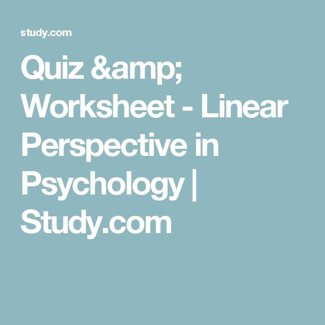 Linear Perspective Psychology Example Quiz & Workshee...