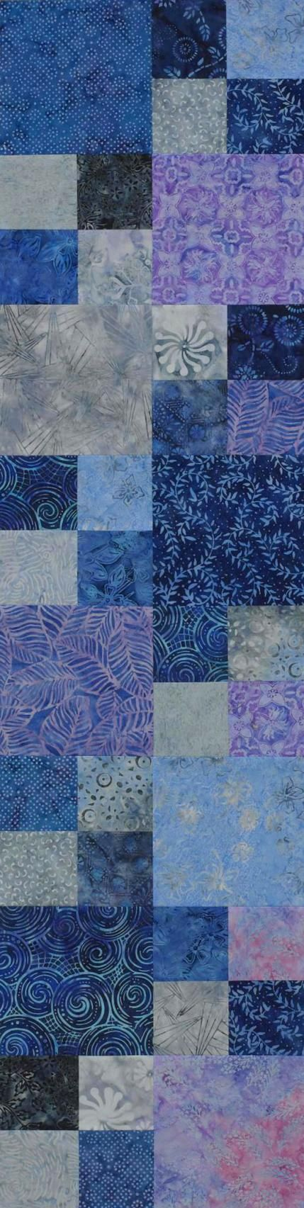 Cool Four-Patch Runner, easy to cut with accuquilt dies. Use 8 in block to make bed quilt.