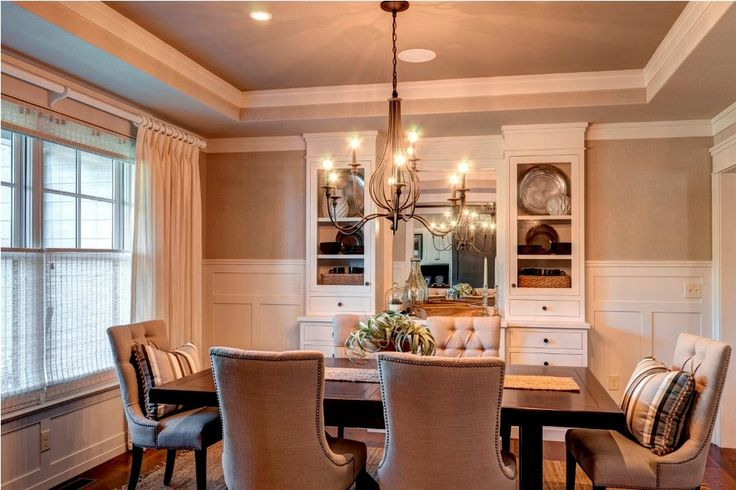 georgian style lake house dining room | dining room