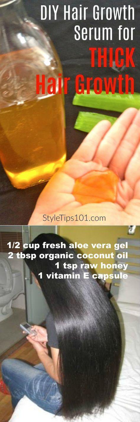 Coconut Oil & Aloe Vera DIY Hair Growth Serum