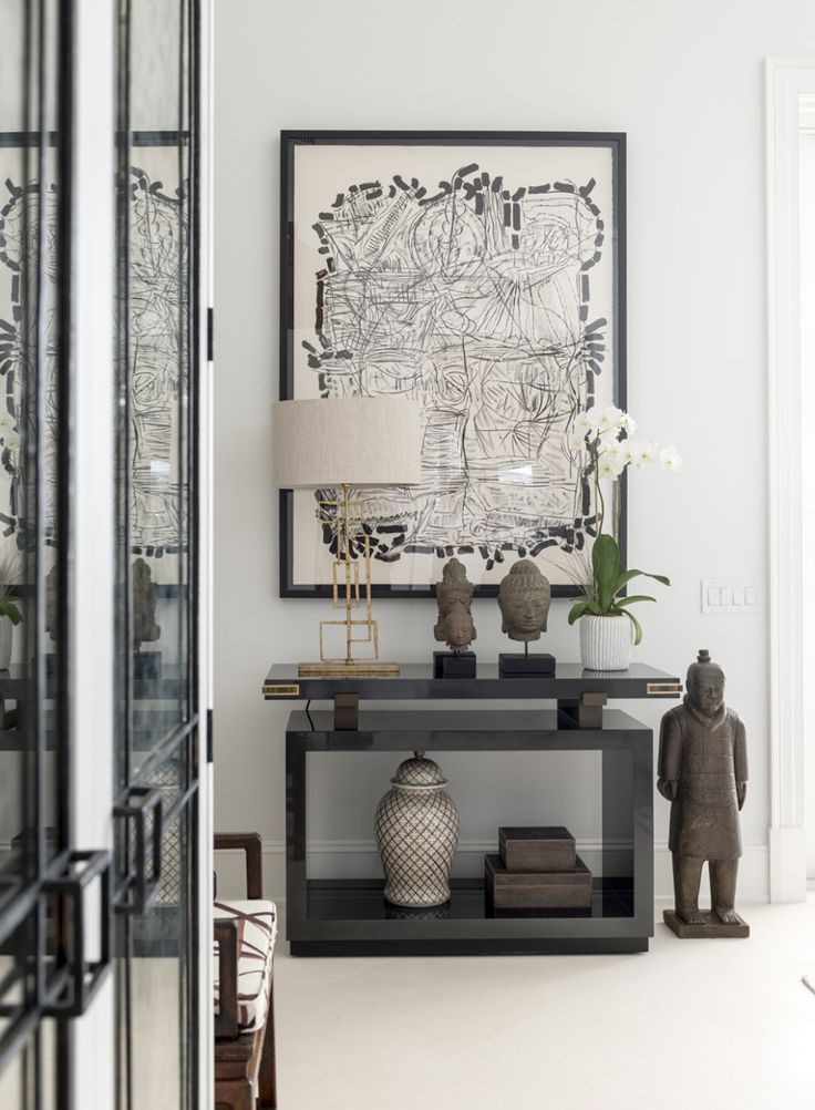 A gorgeous black and white Living Room by Les Ensembliers. 10 Interiors from 2016 Kips Bay Showhouse Designers, via @sarahsarna.
