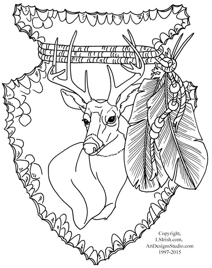 Free Lora Irish Mule Deer Carving Pattern Wood Carving