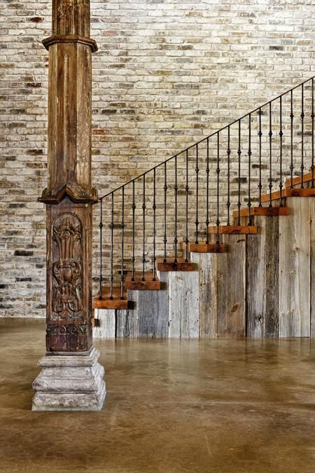Wooden Pillars Designs : Modern interior design and decorating with rustic vibe