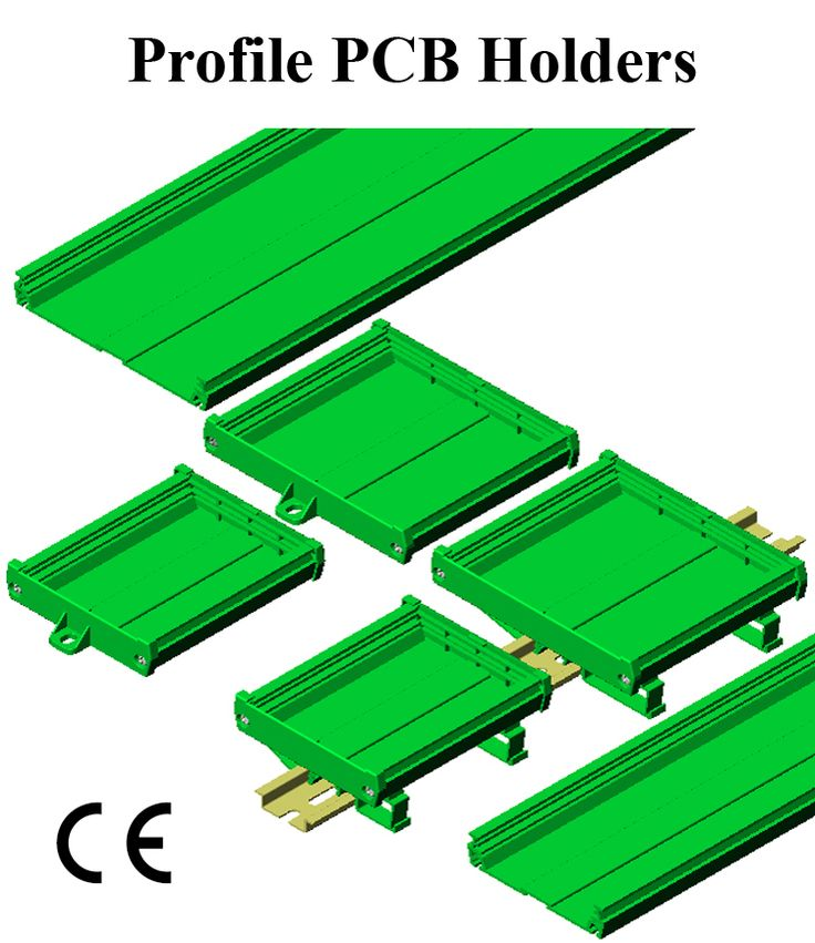 Profile PCB Holders DIN Rail or Panel Mount Universal mounting for 73 & 108 mm width PCB  Available in standard 1 meter and 2 meter extrusion length. Available with custom length & in Pre-assembled kit form to save time. Application : Interface modules for Relays, Din Connectors, Flat Cable, Opto - coupler, #GaurangEnclosures #DinRailPcbHolders #PCB #DinRailEnclosures #PlasticEnclosures #WallMountEnclosures #ElectronicEnclosures #Enclosures Mfg: www.gaurang.com
