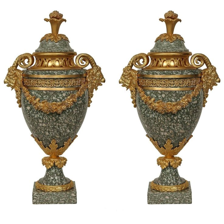 Pair of French 19th Century Louis XVI Style Vert C…
