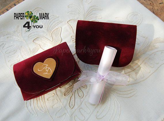 20 Velvet Boxed Wedding Invitation _Velour Boxed