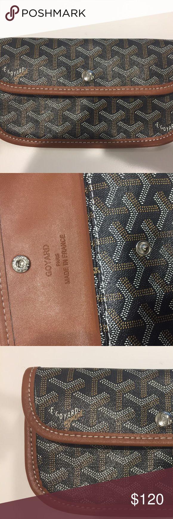 Goyard Wallet / Pouch Black/ brown goyard pouch wallet with snap close Goyard Bags Wallets