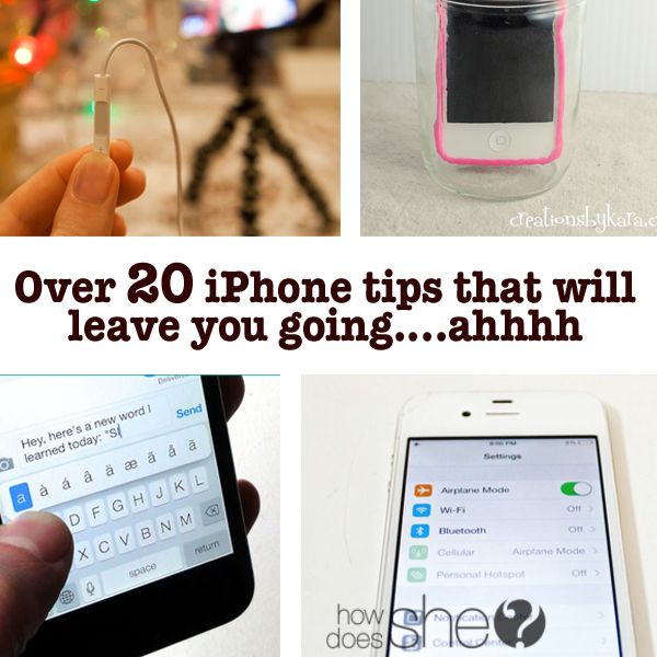 Over 20 iPhone tips that will leave you going….ahhh howdoesshe.com