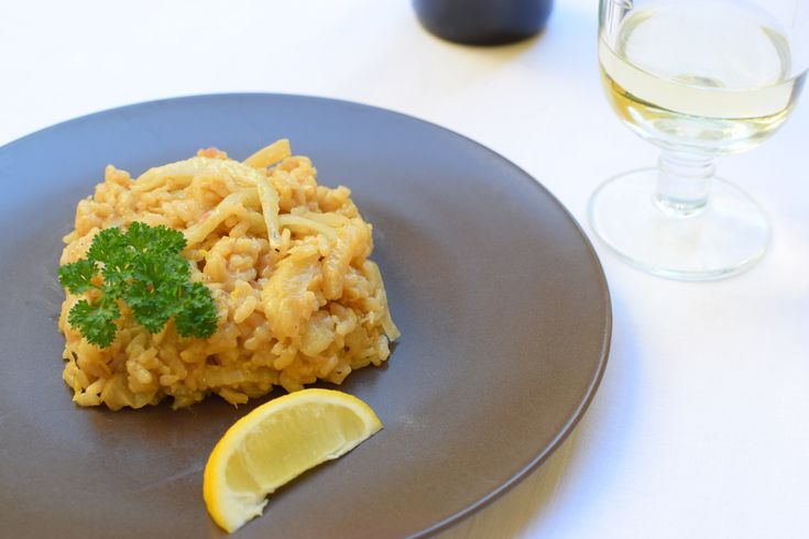 italian risotto with fennel and wine