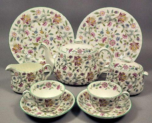 "Minton bone china ""Haddon Hall"" pattern tea service"