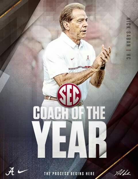 Nick Saban: SEC Coach of the Year