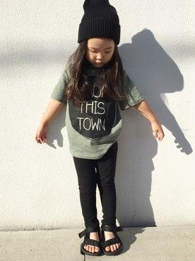 mino│H&MのTシャツ・カットソーコーディネート