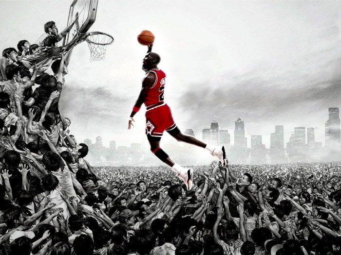Michael Jordan Dunk NBA Basketball Gigantic Print POSTER