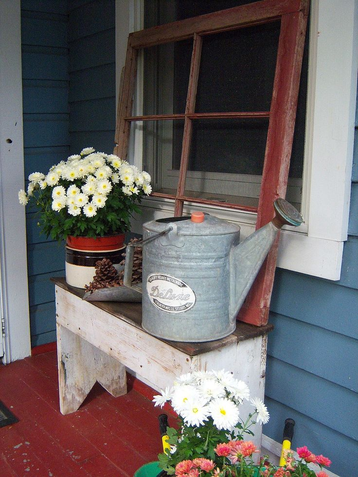 farm style porch decor