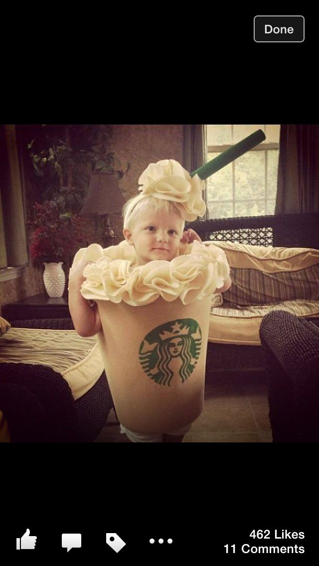 Frappacino kid costume lol cute! #halloween #costumes #kidscostumes