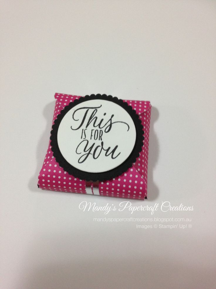 Chocolate Treat box in Pink, Black & White, made with Envelope Punch Board