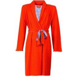 Lekker felle kleur! Rode dames badjas.
