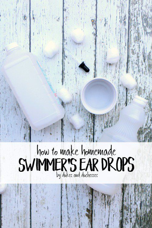 Help prevent outer ear infections caused by swimming with these two-ingredient homemade swimmer's ear drops!