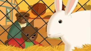 petit ours brun decouvre la ferme - YouTube
