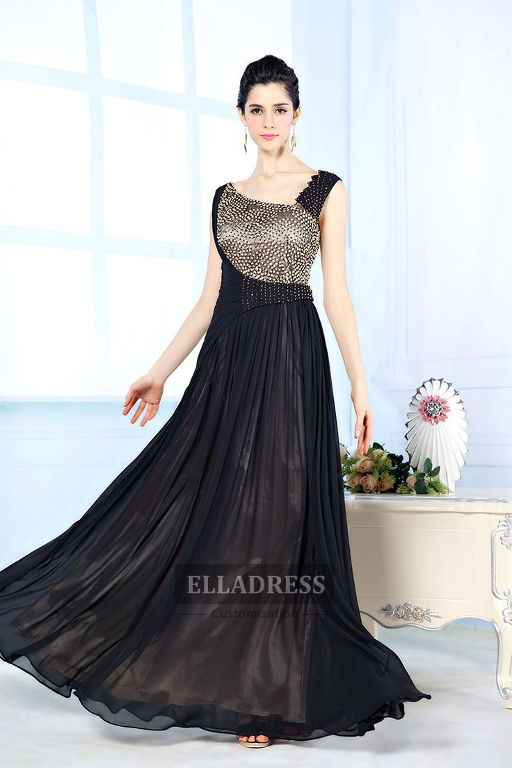 Black Modern Sweetheart Ball Gown Prom Dress-188