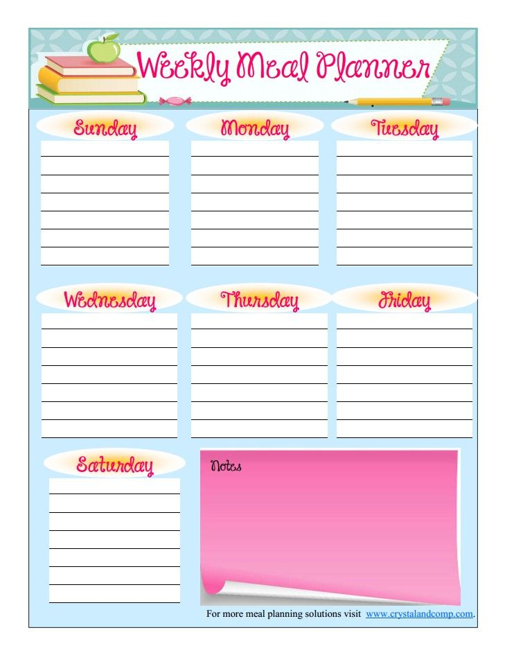 Best 20+ Free printable meal planner ideas on Pinterest | Meal ...