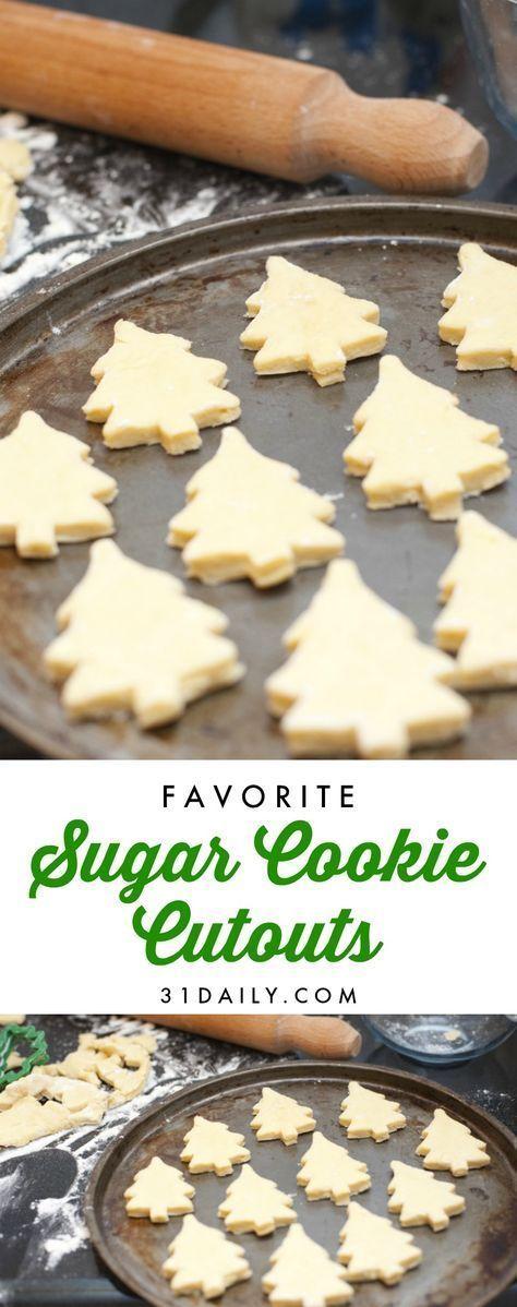 A Favorite Sugar Cookie Cutouts Recipe I Use Every Year | 31Daily.com #christmascookies #christmas #sugarcookies #cutoutcookies