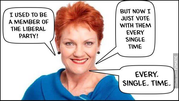 One Nation. For everyone who wants to be a puppet of the Liberal Party.