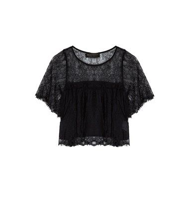 Shortsleeve lace top